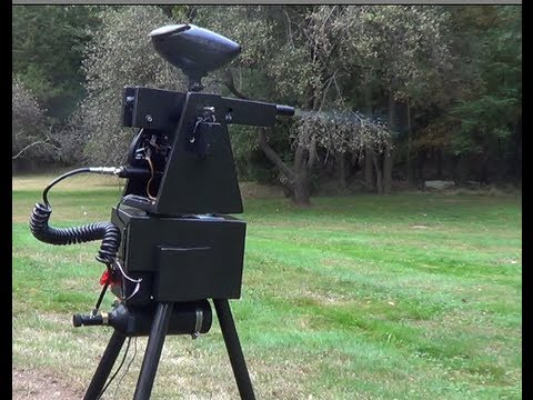 Sentry - https://sites.google.com/site/projectsentrygun/ This is the Gladiator II paintball sentry from Project Sentry Gun. This sentry is fully autonomous - there is...
