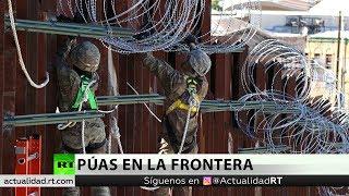 Roban alambre de púas en la frontera sur de Estados Unidos y acaba en viviendas mexicanas