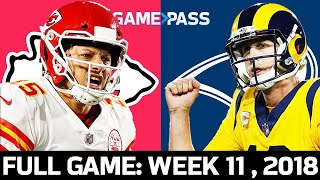 Kansas City Chiefs vs. Los Angeles Rams Week 11, 2018 FULL Game: The Greatest MNF Game Ever? by NFL