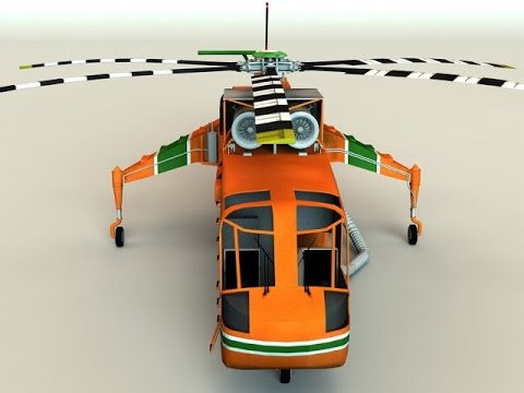 Download 3D Sikorsky S-64 Skycrane...