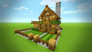 Minecraft: How To Build A Small Survival House Tutorial (Rustic house ) PS3 - PS4 - XBOX - MCPE 2016