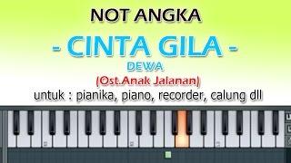 Video NOT ANGKA - CINTA GILA - DEWA  (Ost.Anak Jalanan)  by denny ranch YOUTUBE CHANEL MP3, 3GP, MP4, WEBM, AVI, FLV April 2018