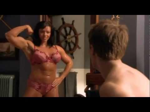 Female Bodybuilder in BETA HOUSE