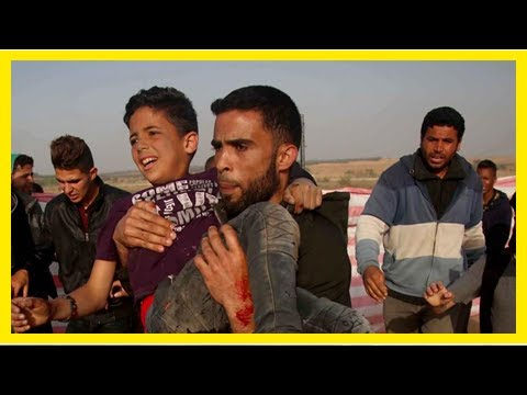 Breaking News   Gaza protesters face bone-breaking bullets, mystery gas