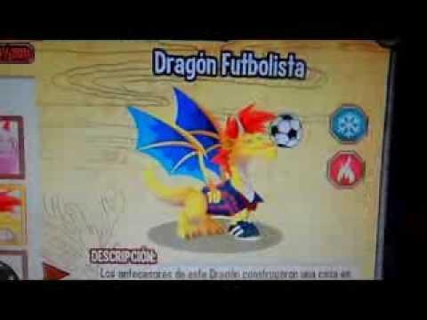 Combinaciones para obtener al dragón fuego fresquito y al dragón futbolista