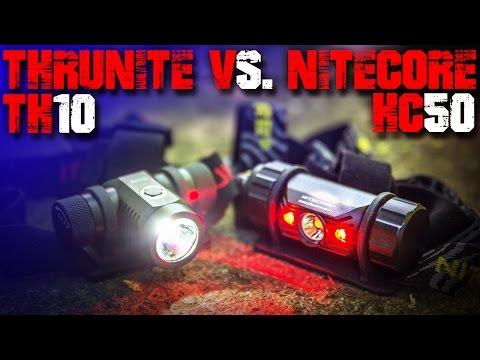 Thrunite TH10 vs. Nitecore HC50 Kopflampe - Review Vergleich Test deutsch - Outdoor EDC Deutschland