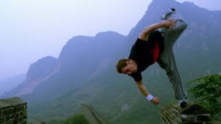 Free-runner Ryan Doyle in China 中国