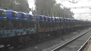 [ INDIAN RAILWAYS ] Very expensive train containing 272 tractors of Sonalika Brand.