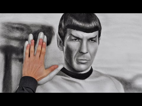 Leonard Nimoy SPOCK (Star Trek) AMAZING painting, drawing