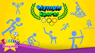http://www.youtube.com/user/EnglishSingsing9 Kids vocabulary - Olympic Sports - Game of Sports - Learn English for kids...