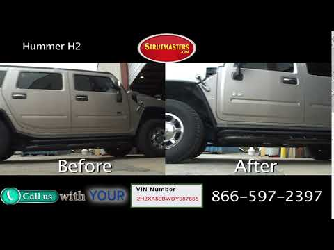 Hummer H2 Before and After Suspension Conversion
