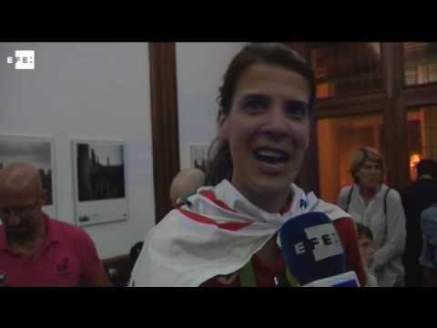 Ruth Beitia recibida por todo lo alto en Santander