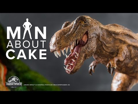 Epic Dinosaur Cake for JURASSIC WORLD: FALLEN KINGDOM Premiere | Man About Cake