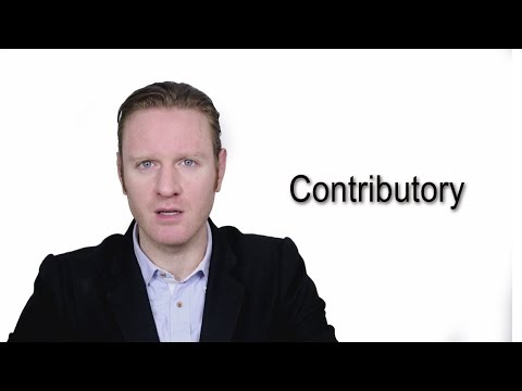 Contributory  - Meaning | Pronunciation || Word Wor(l)d - Audio Video Dictionary.