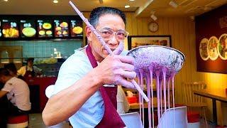 Video Chinese Street Food - PURPLE NOODLES | CRAZY Street Food in Chongqing - BEST Street Food in China MP3, 3GP, MP4, WEBM, AVI, FLV April 2018
