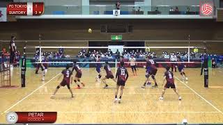 Highlights from one full game Tokyo vs Suntory (only Prmovic points) 2020-2021