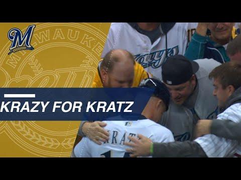 Video: NLCS Gm6: Kratz hugs fans who rock his past jerseys