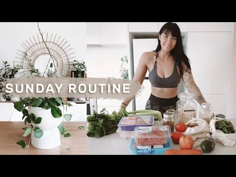 Productive Sunday Routine | Healthy Groceries, Cleaning & Organizing