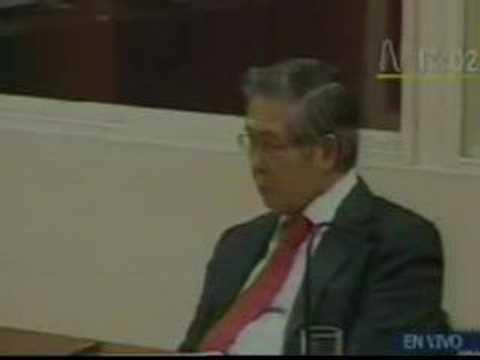 Fujimori se queda dormido durante juicio