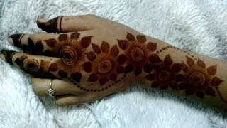 Trending 2018 Big Flower Arabic Mehndi Design|Latest Easy Arabic mehndi Design|