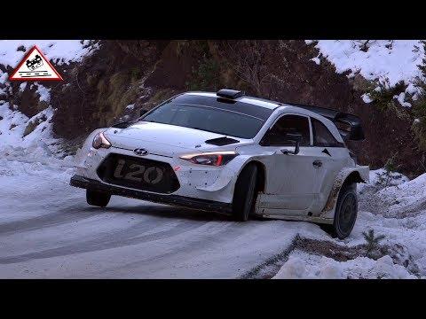 Snow Test Hyundai WRC Pre Rallye Monte-Carlo 2018 [Passats de canto]