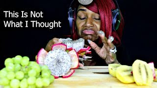 ASMR WITH SUBTITLES TRYING DRAGON FRUIT FOR THE FIRST TIME