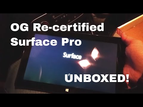 [HD] Refurbished Microsoft Surface Pro 128GB Unboxed