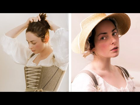 Video Of A 1700 s English Working Woman Getting Dressed In The