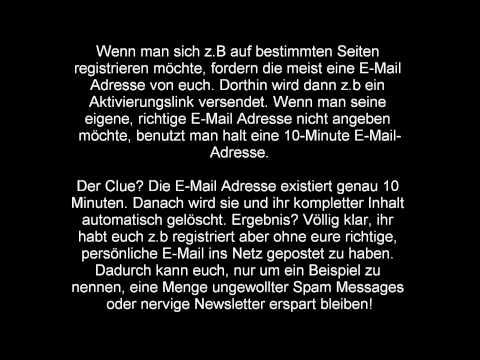 Free / Kostenlos 10-Minute Fake-Mail erstellen Tutorial / Info