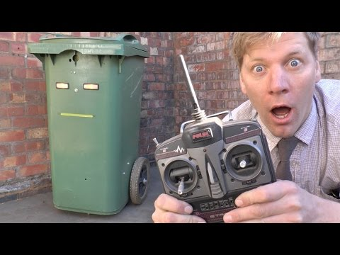 Inventor Colin Furze Builds a RemoteControlled Garbage Bin and Pranks People on the