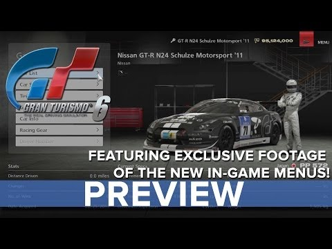 menus - Gran Turismo 6 - In-Game Menus Preview - Eurogamer Eurogamer's resident petrol head Martin Robinson takes a detailed look at Gran Turismo 6's new and improve...