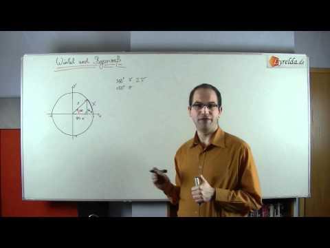 Winkel in Grad und Bogenmaß