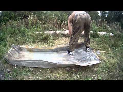 сделать лодку из листа железа