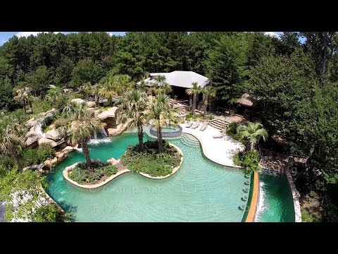 BirdseyeUSA 200 Acre Dream Estate With Custom Log Cabin Home - 621 Corley Rd NW