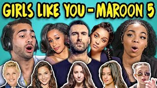 Video ADULTS REACT TO GIRLS LIKE YOU - MAROON 5 (Ft. Cardi B) MP3, 3GP, MP4, WEBM, AVI, FLV Juni 2018