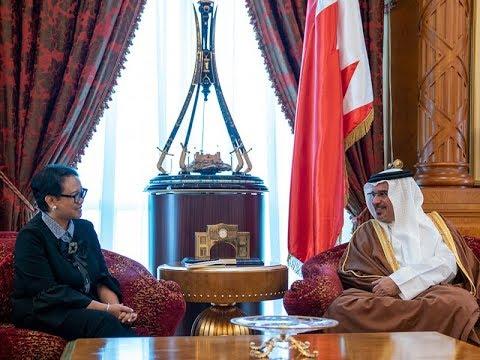 نائب جلالة الملك ولي العهد يلتقي معالي السيدة ريتنو مارسودي وزيرة خارجية جمهورية إندونيسيا