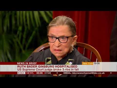 Ruth Bader Ginsburg has a fall (USA) - BBC News - 9th November 2018