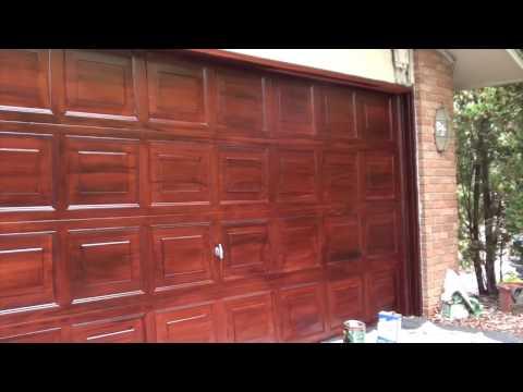 Faux Painting  Mahogany Garage Door
