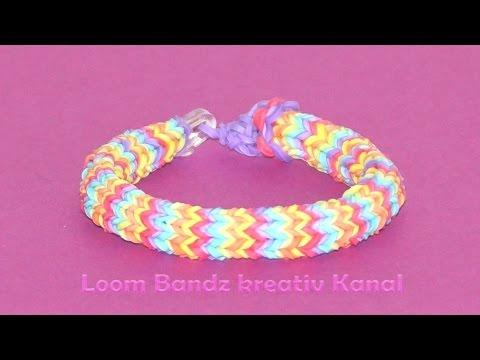 Loom Bandz Hexafish Armband, Anleitung deutsch