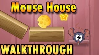 Mouse House Walkthrough [ Full, All Stars, All Levels 1-28 ]