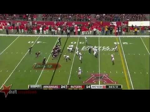 Trey Flowers vs Rutgers 2013 video.