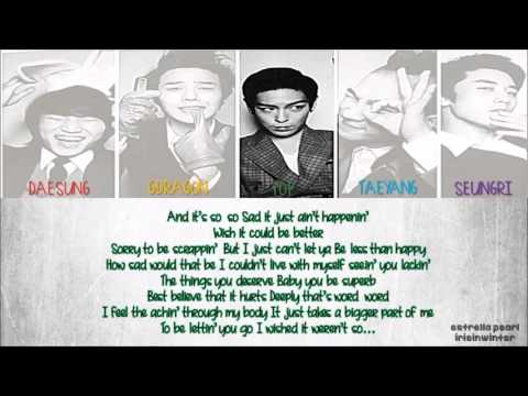 BIG BANG { 빅뱅 } - TELL ME GOODBYE LYRICS [ ROM | ENG ]