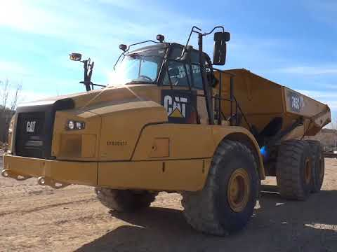 CATERPILLAR WOZIDŁA PRZEGUBOWE 745C equipment video nVYqEZ7e6yk