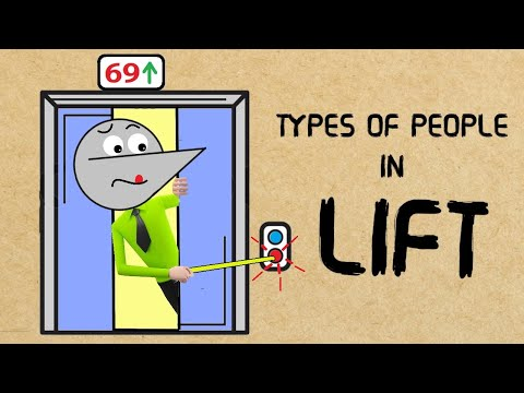 TYPES OF PEOPLE IN LIFT | Angry Prash