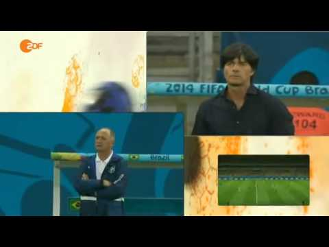 germany - Joachim Löw and Luiz Felipe Scolari Brazil 1 - 7 Germany, World Cup Semi-Final, Belo Horizonte, 8 July 2014 Coaches' camera during all eight goals. More on: ...