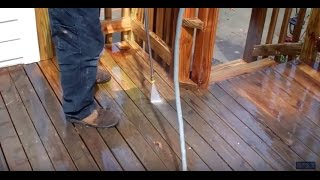 Pressure Washing My New Deck
