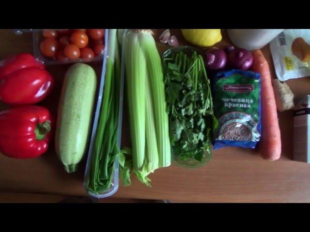 Суп с кокосовым молоком и чечевицей. Рецепт для веганов, вегетарианцев, и постящихся людей.