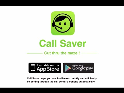 Video of Call Saver