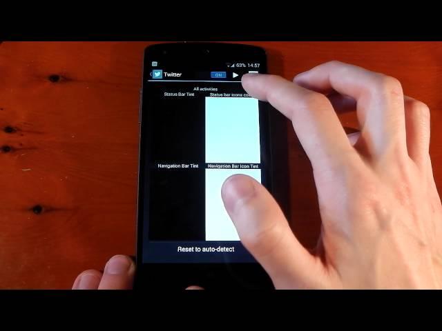 Nexus 5 - Xposed Module - Tinted Status Bar