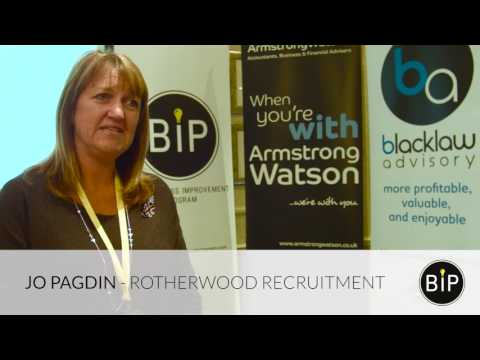 Alec Blacklaw, The BIP and Jo Pagdin, Rotherwood Recruitment